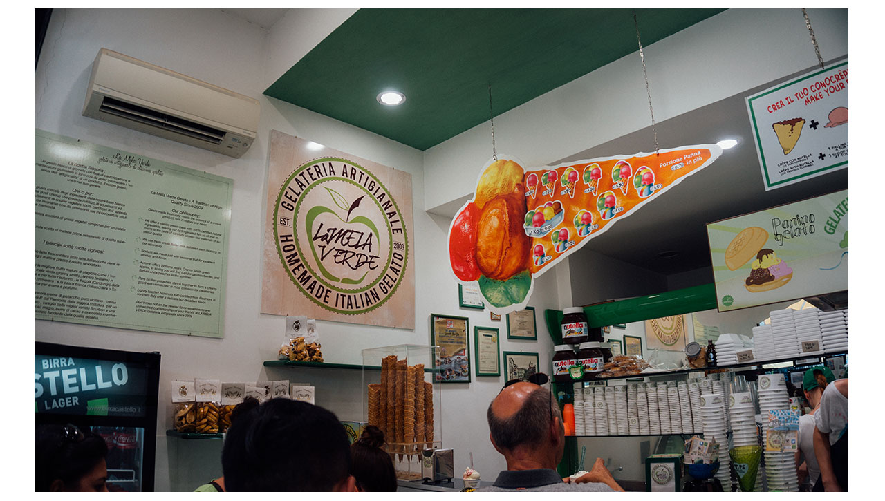 La Mela Verde Ice cream Venice