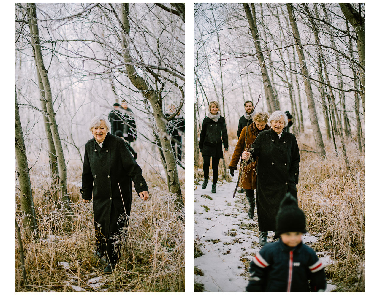 Candid Family Portraits in Forest