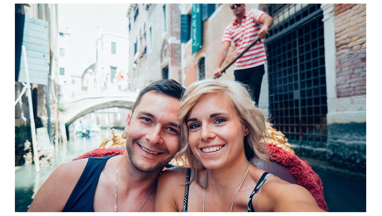 Gondola selfie in Venice